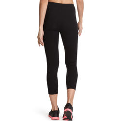 Leggings 3/4 FIT+ slim fitness mujer negro
