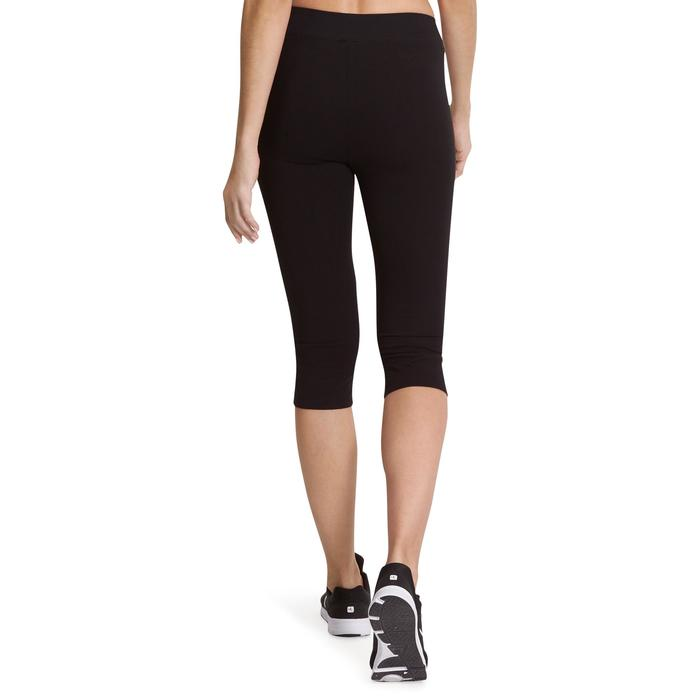 Dames kuitbroek FIT+ 500 voor gym en stretching slim fit zwart