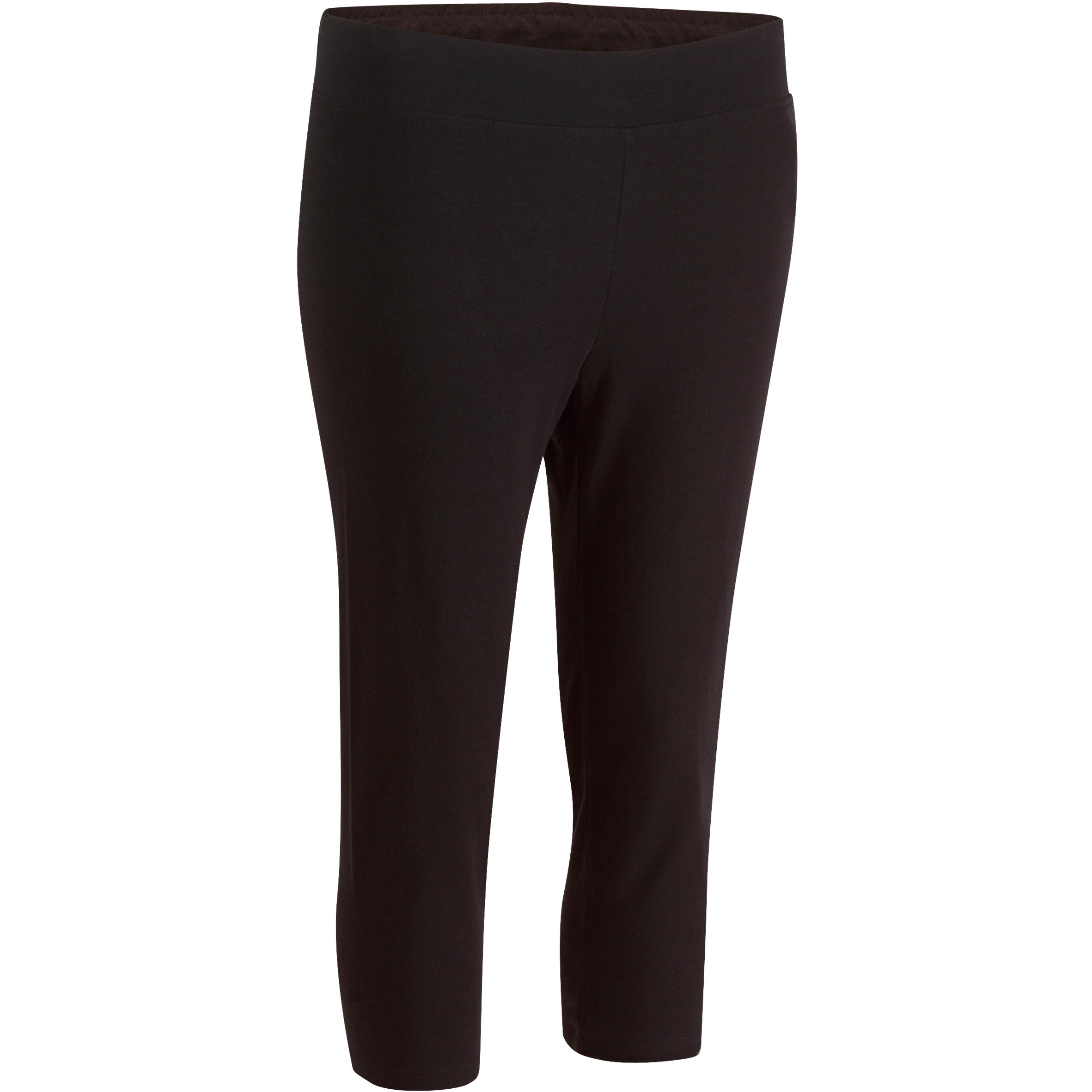 Fit+ Women's Slim-Fit Gym & Pilates Cropped Bottoms - Hitam