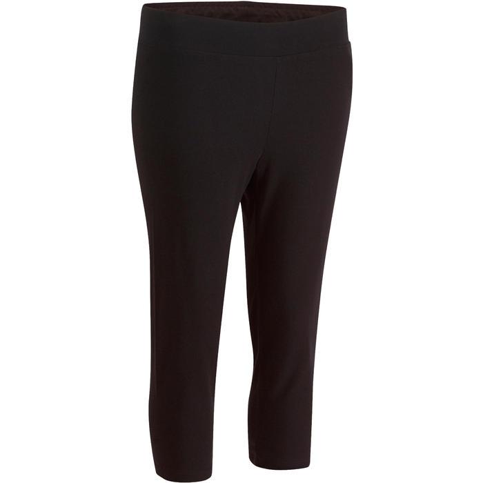Kuitbroek Fit+ 500 slim fit pilates en lichte gym dames zwart