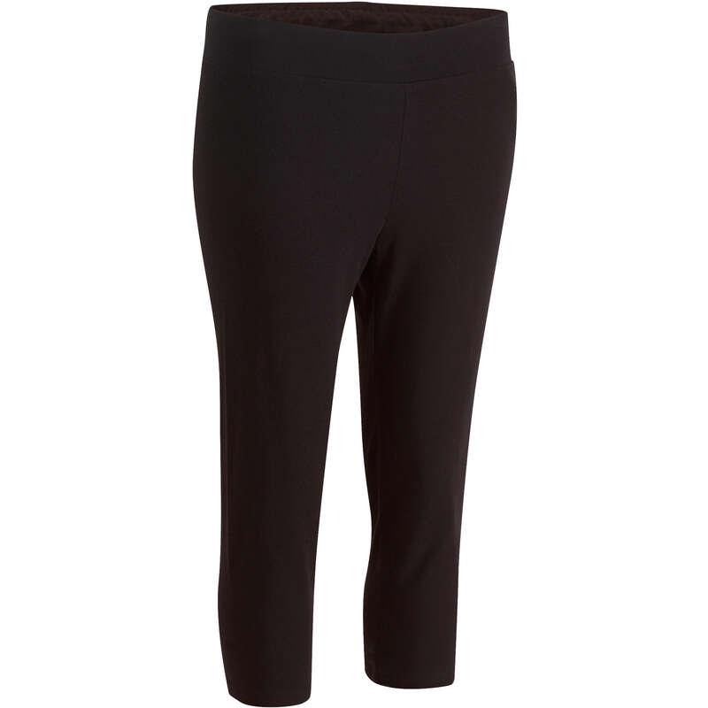 T-SHIRT, LEGGINGS, SHORT DONNA Ginnastica, Pilates - Corsari donna slim FIT+ NEW neri DOMYOS - Abbigliamento donna