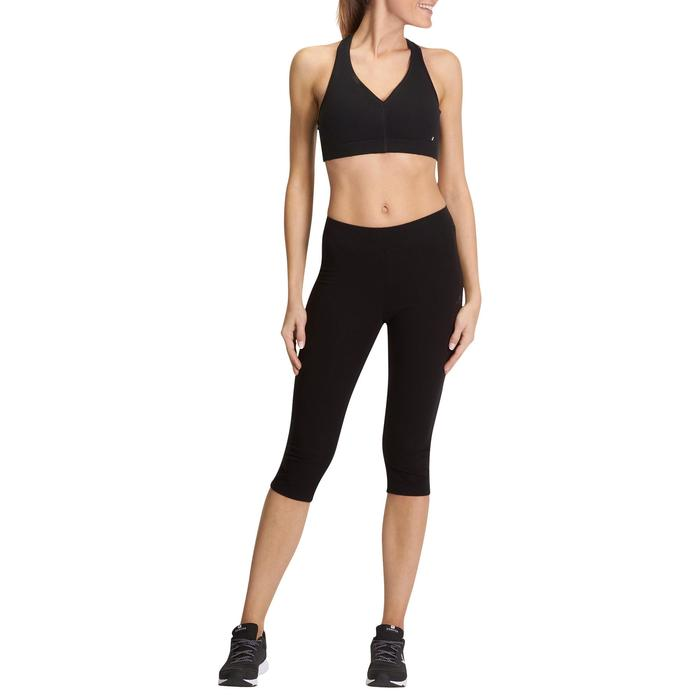 Leggings Fit+500 Slim Fitness Damen schwarz