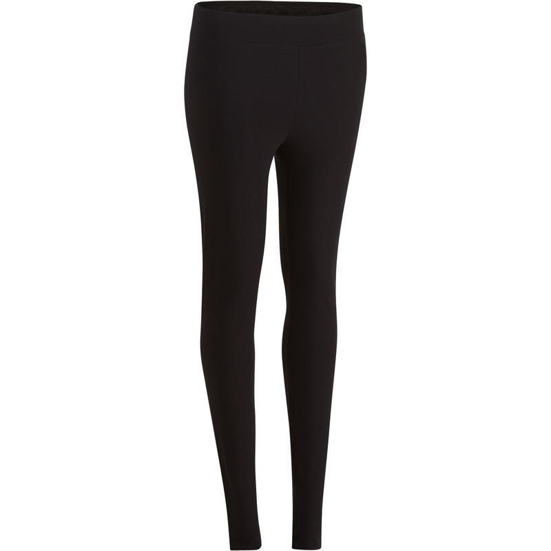 Leggings FIT+ 500 slim gimnasia y pilates mujer negro | Domyos by ...