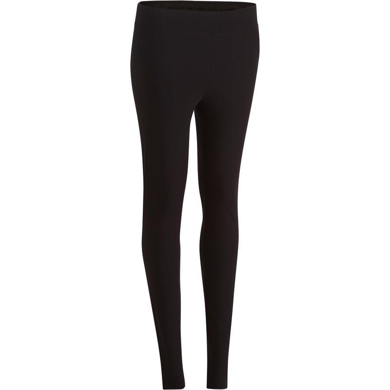 Calzas FIT+ 500 slim gimnasia y pilates mujer negras