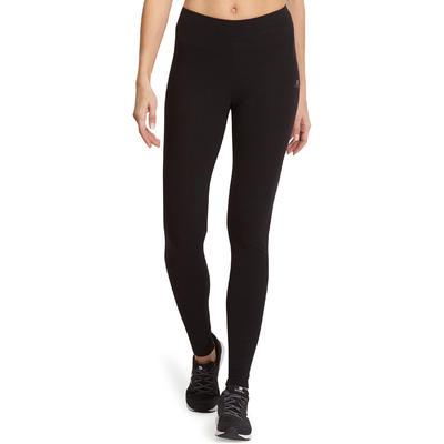 Leggings slim fitness mujer FIT+ negro