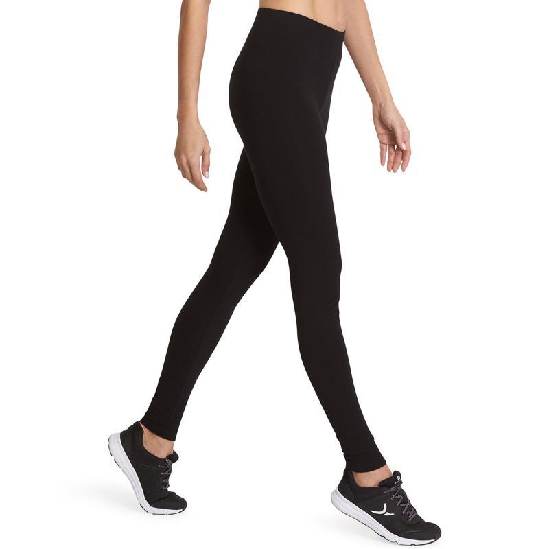 Dámské legíny na fitness 500 fit+ slim černé  37bc13c5af