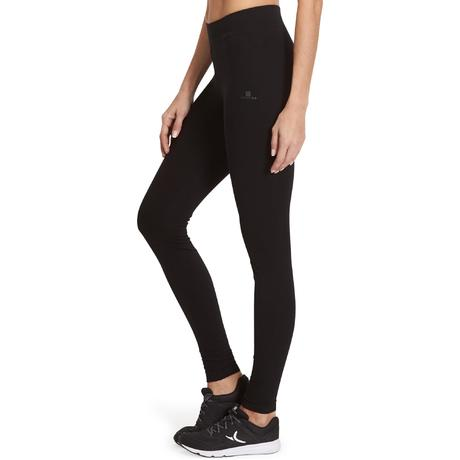 legging slim gym pilates femme noir fit domyos by decathlon. Black Bedroom Furniture Sets. Home Design Ideas