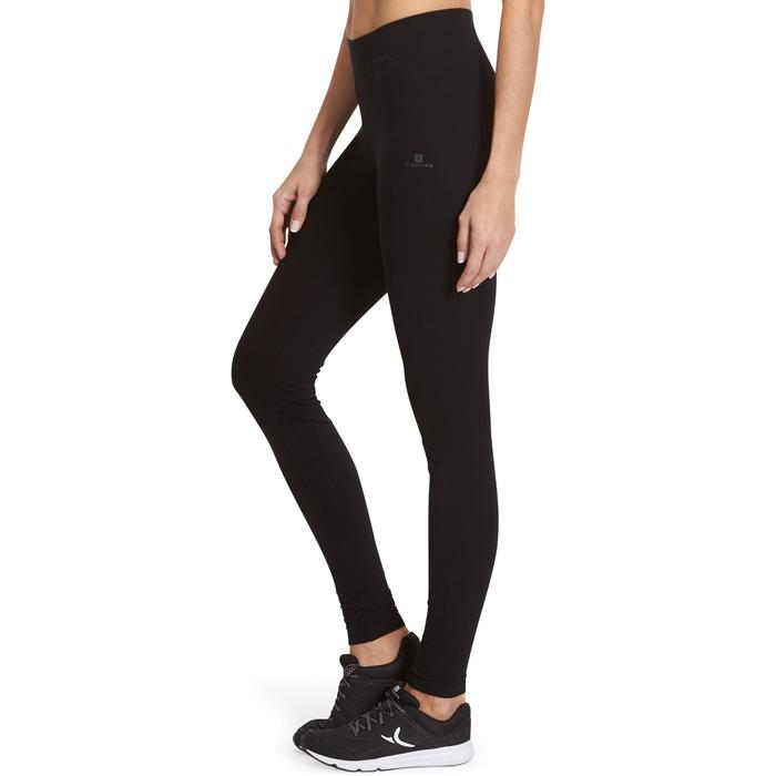Leggings Fit+500 Slim Gym & Pilates Damen schwarz