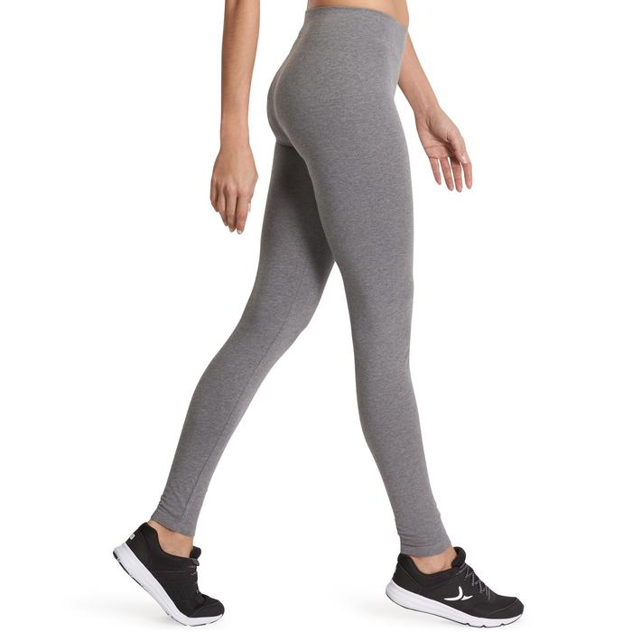 Leggings Fit+ 500 slim Pilates y Gimnasia suave mujer gris