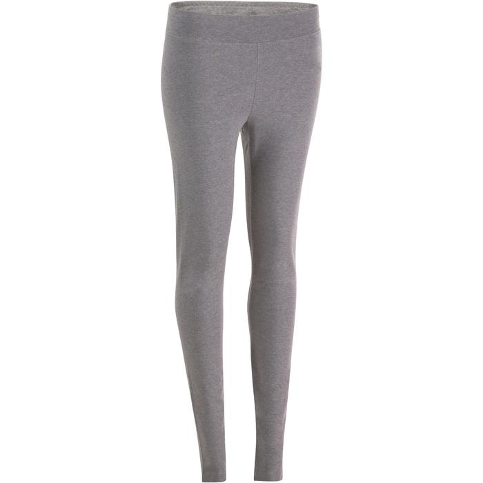 Leggings 500 Fit+ Slim Gym Damen grau meliert