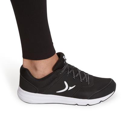 500 Women's Slim-Fit Gym & Pilates Leggings - Black