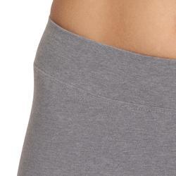 Leggings Fit+ 500 Slim Gym & Pilates Damen grau