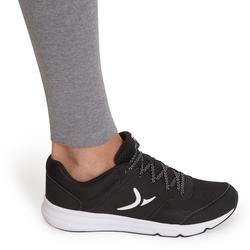 Legging Fit+ 500 slim Pilates Gym douce femme gris
