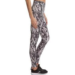 Dameslegging Fit+ voor gym en pilates, slim fit - 880559