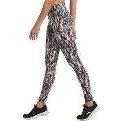 Dameslegging Fit+ voor gym en pilates, slim fit - 880563