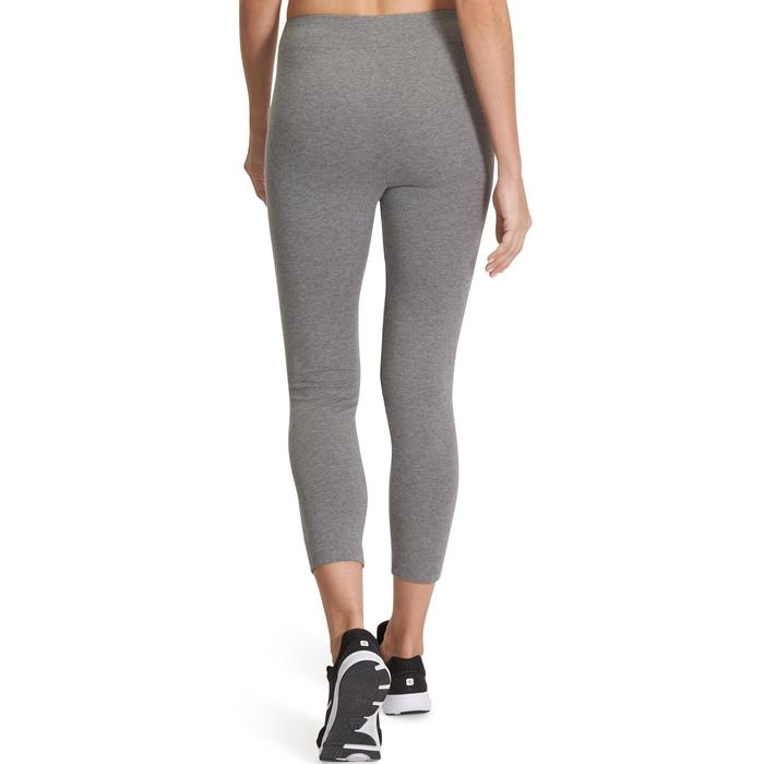 Legging 7/8 FIT+ 500 slim Gym Stretching femme gris chiné