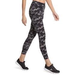 7/8-legging FIT+ voor dames, voor gym en pilates, slim fit - 880606
