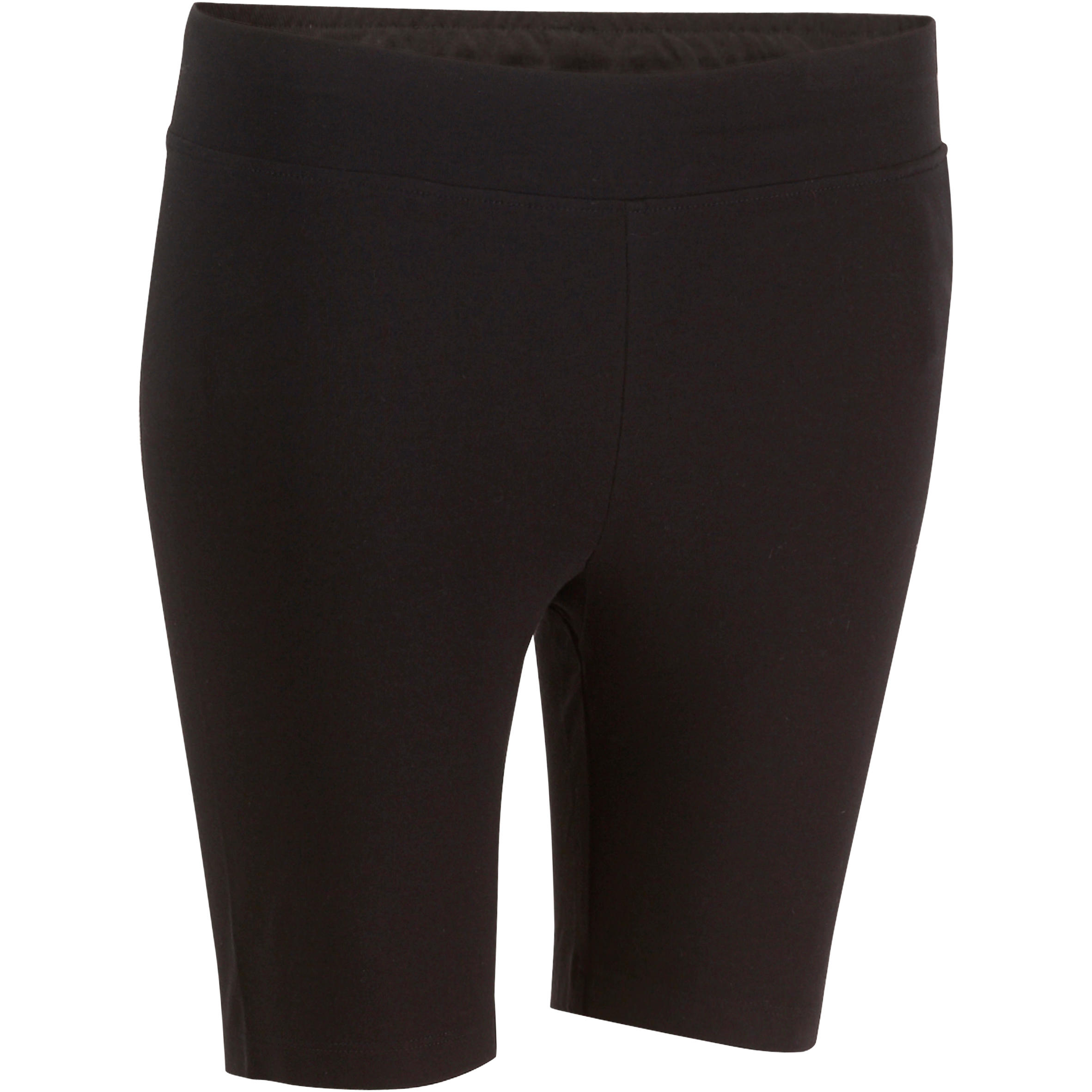 FIT+ 500 Women's Slim-Fit Stretching Cycling Shorts - Black