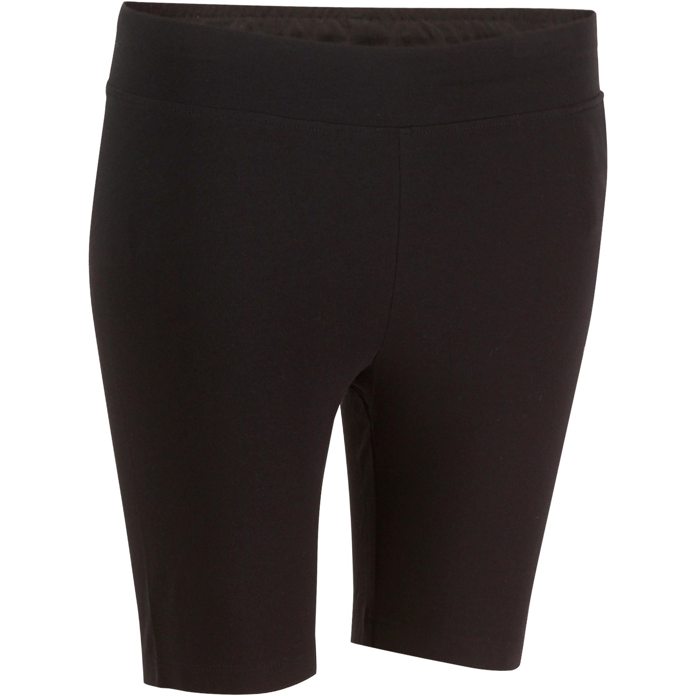 Mallas ciclistas FIT+ ajustadas, fitness mujer, negro