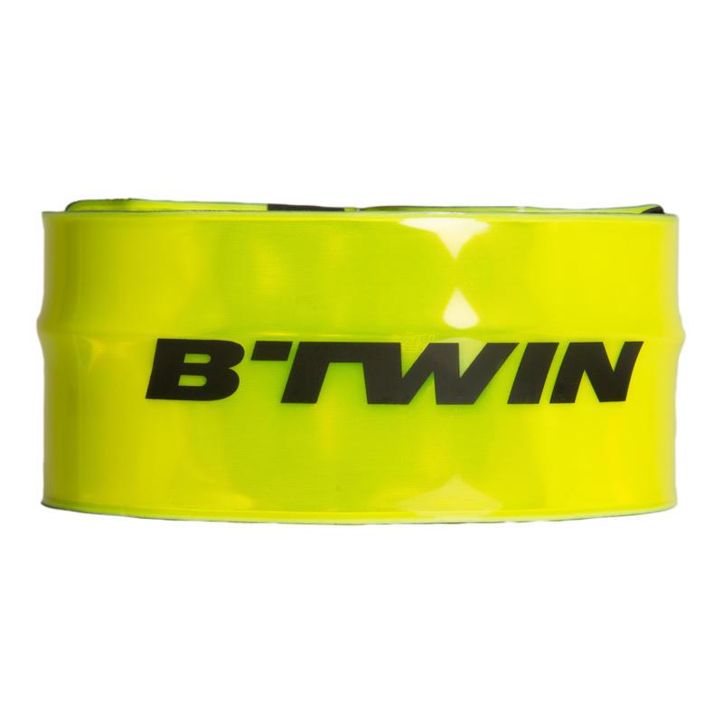 Світловідбивальна стрічка B'Twin 500, на ногу/руку - Неоново-жовта