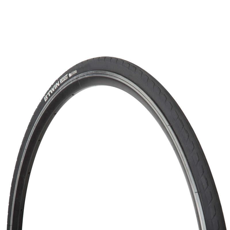 TYRES - 700x25 Resist 1 Road Bike Tyre BTWIN