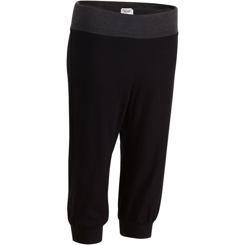 803e4dacc3eb00 Roupa yoga feminina - Calça Corsário feminina de Yoga restaurativa em  Algodão Biológico