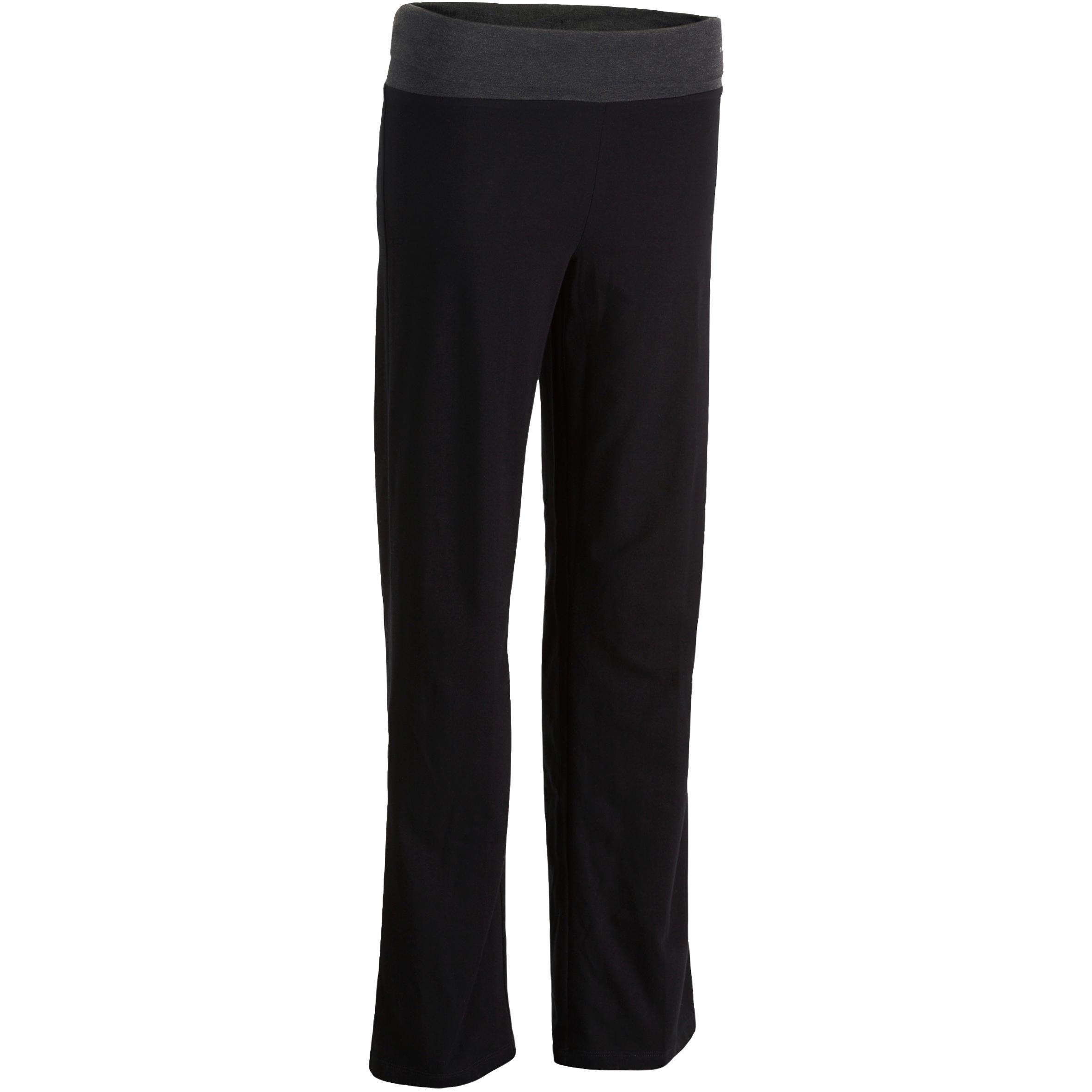Pantalón yoga algodón biológico mujer negro gris