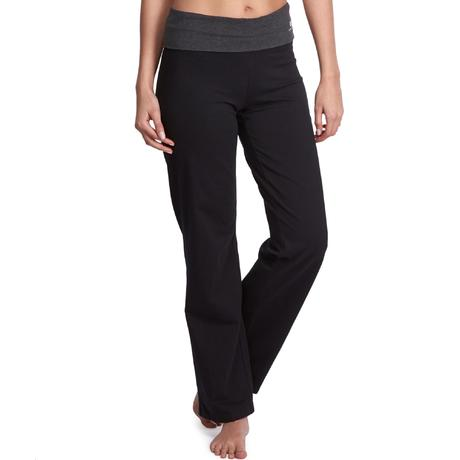 pantalon yoga femme coton issu de l 39 agriculture biologique noir gris chin domyos by decathlon. Black Bedroom Furniture Sets. Home Design Ideas