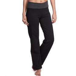 Pantalon Yoga Femme Coton Issu De L Agriculture Biologique Noir Chine