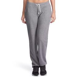 Damesbroek voor gym en pilates, regular fit - 881281
