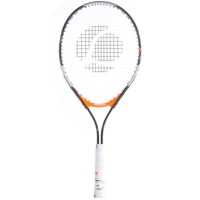 TR130 25 兒童網球拍 - 黑色/橘色