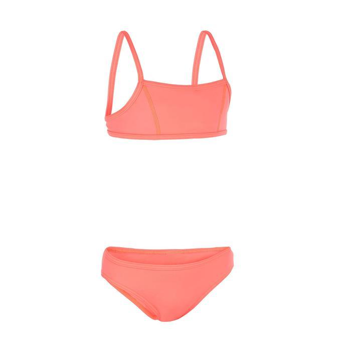 Bikini voor surfen meisjes Bali 100 topje zonder sluiting en broekje roze
