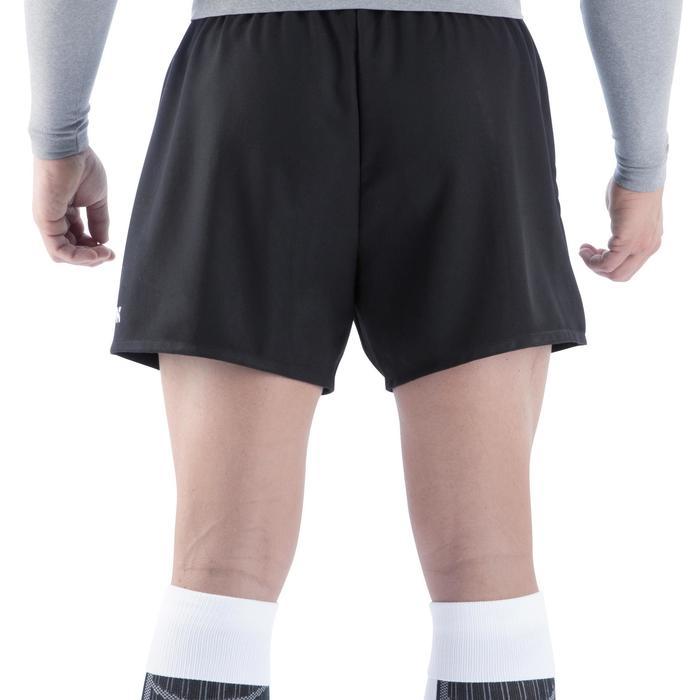 Rugbyshorts Full H100 Erwachsene schwarz