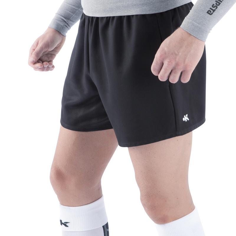 Pantalón corto de rugby adulto Full H 100 negro