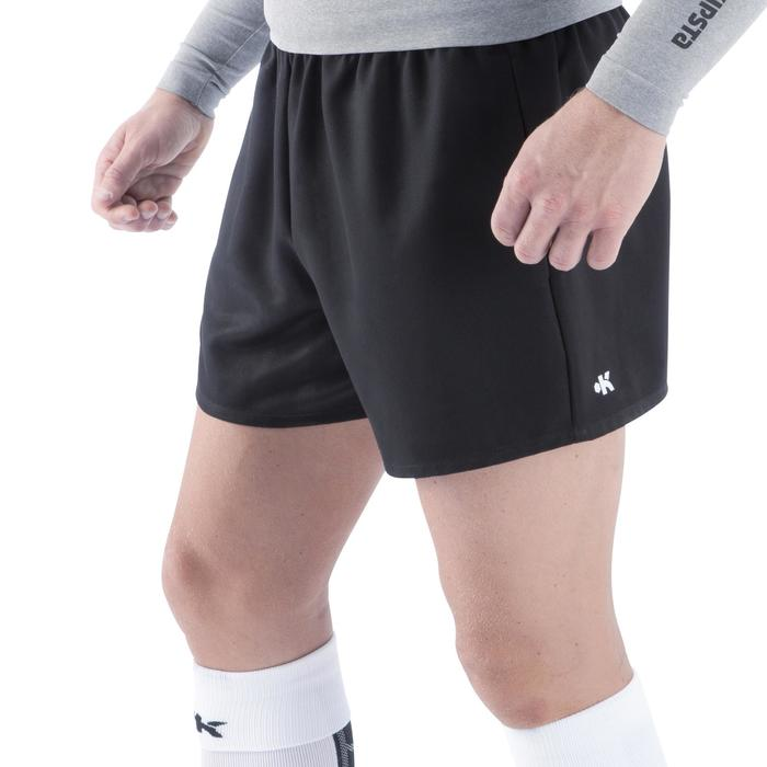 Pantalón corto de rugby hombre R100 negro