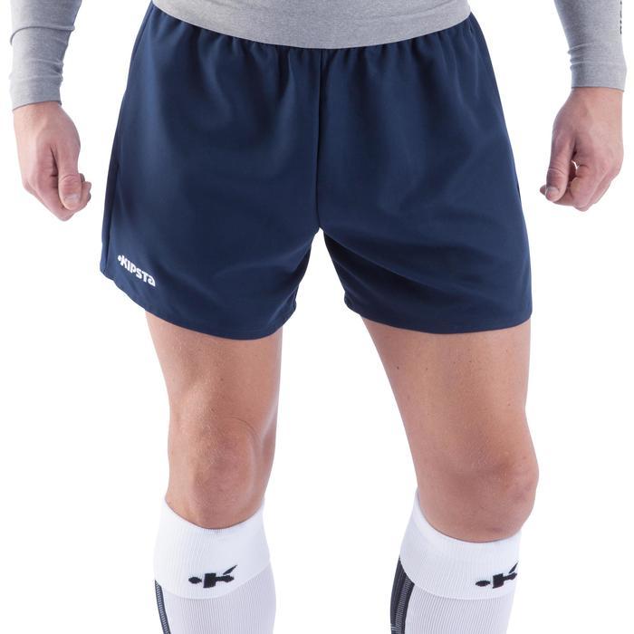 Pantalón corto de rugby hombre R100 azul
