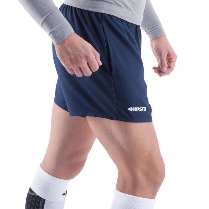 Rugbyshort Full H 100 volwassenen blauw