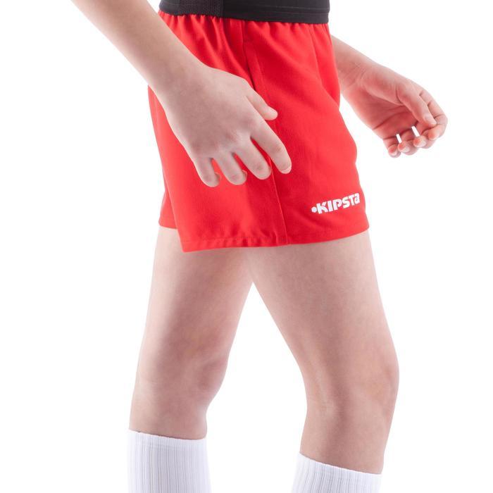 Pantalón corto de Rugby 100 júnior rojo