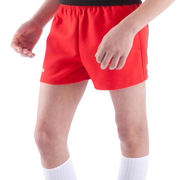 Rugbyshort Full H 100 kinderen rood