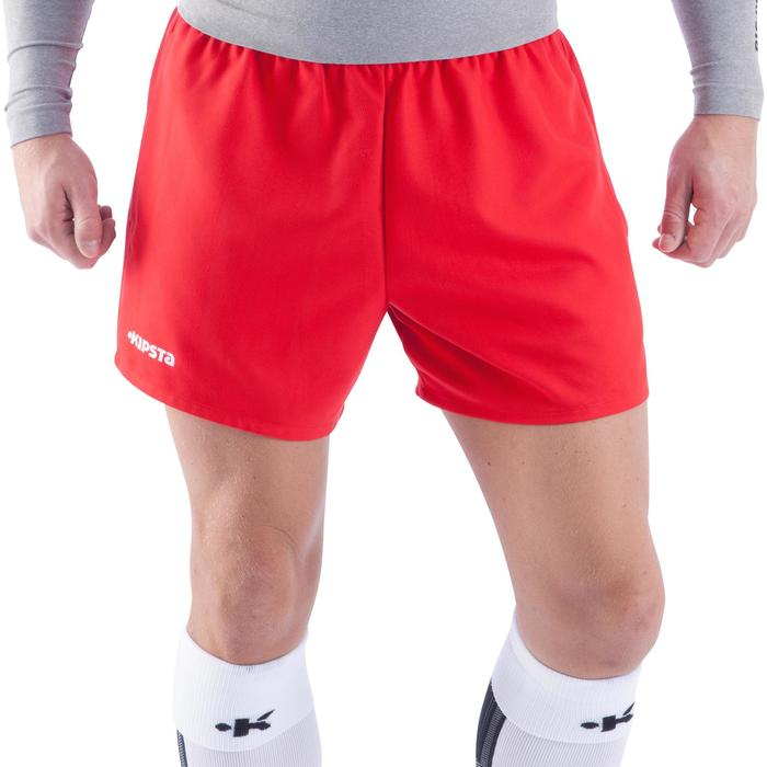 Pantalón corto de rugby hombre R100 rojo