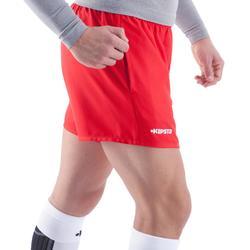 Rugbyshort Full H 100 volwassenen rood
