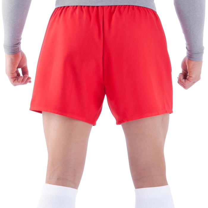 Rugbyshorts Full H100 Erwachsene rot