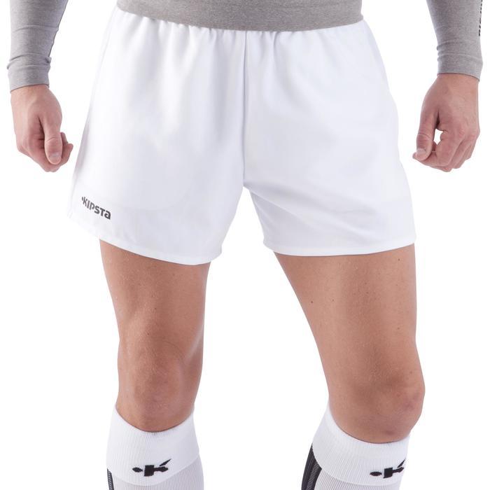 Rugbyshort Full H 100 volwassenen wit