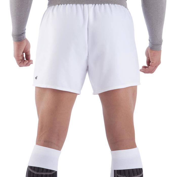 Rugbyshorts Full H100 Erwachsene weiß