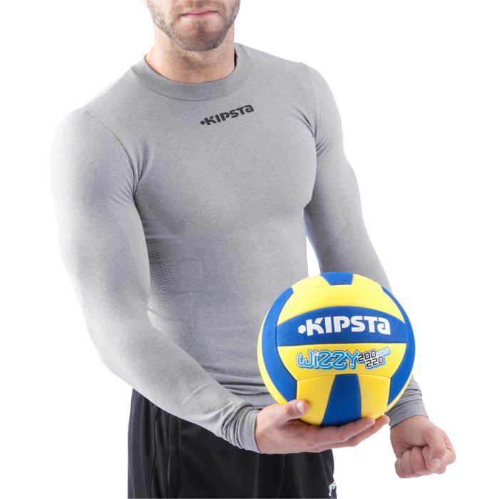 Ballon de volley-ball Wizzy 260-280g blanc et bleu à partir de 15 ans - 882419