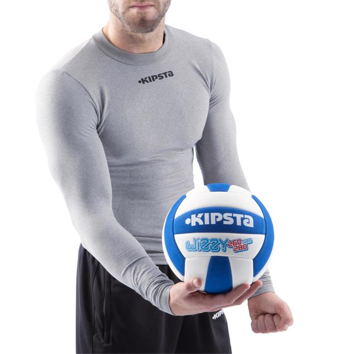 Ballon de volley-ball Wizzy 260-280g blanc et bleu à partir de 15 ans - 882421