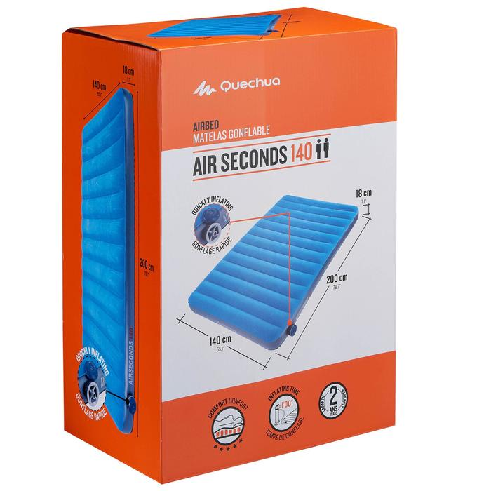 Matelas gonflable de camping AIR SECONDS 140 | 2 pers. - 882434