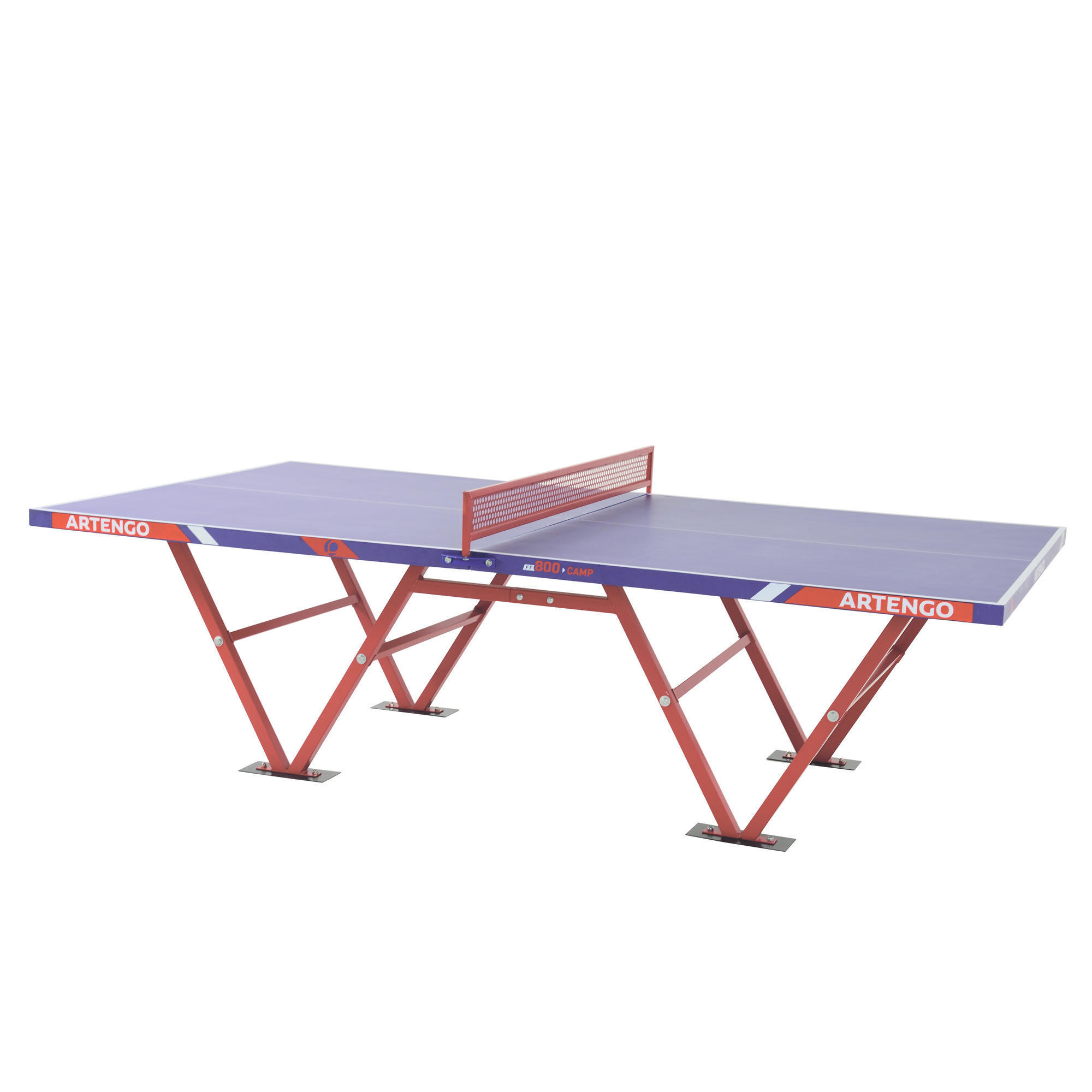 Tavolo ping pong ft 800 camp outdoor artengo - Decathlon tavolo ping pong ...