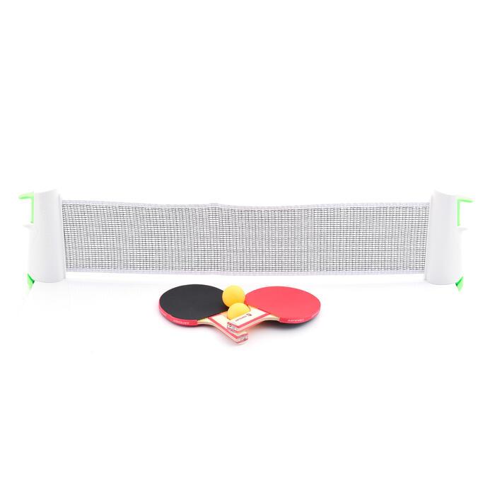 FILET DE TENNIS DE TABLE ADAPTABLE - ROLLNET + 2 PETITES RAQUETTES + 2 BALLES - 882603