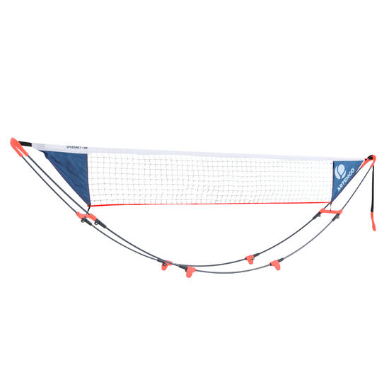 Tennisnet Speednet rood 3 meter - 882608